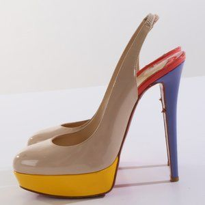 CHRISTIAN LOUBOUTIN Patent Leather Sandals Heels